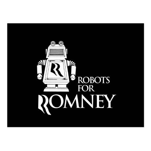 ROBOTS PARA ROMNEY.png Tarjeta Postal