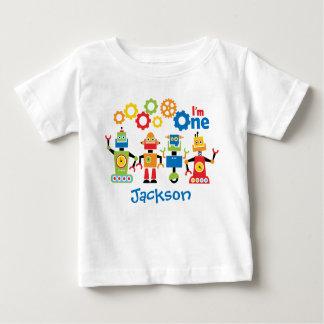 Robots Personalized First Birthday Tshirt