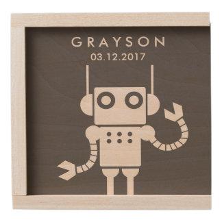 Robots Personalized Keepsake Box - Cuztom Name