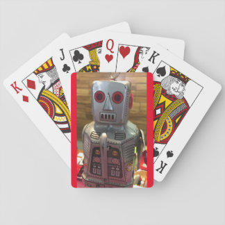Robots playing cards
