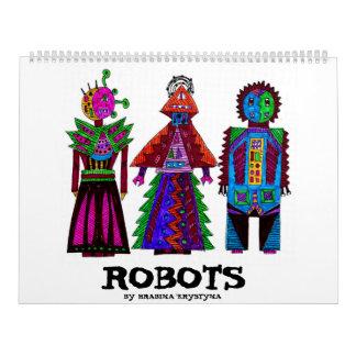 ROBOTS POR HRABINA KRYSTYNA CALENDARIOS DE PARED