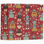 """Robots retros 2"""" (rojo) carpeta de Avery"""
