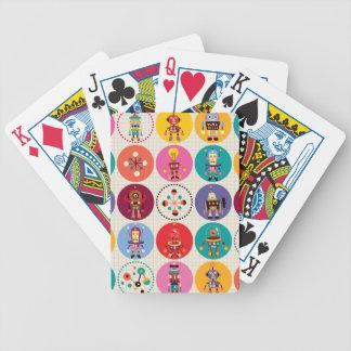 Robots retros baraja de cartas