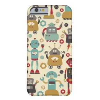 Robots retros (crema) funda barely there iPhone 6