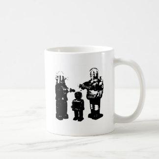 Robots retros del juguete tazas