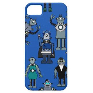 robots retros iphone5 en el azul - robot de funda para iPhone SE/5/5s