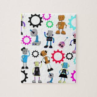 Robots retros puzzle