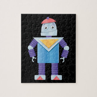 Robots retros puzzle con fotos