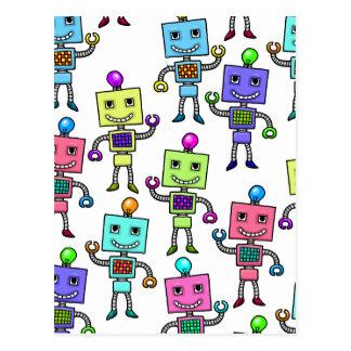 Robots retros viejos de Skool Postales