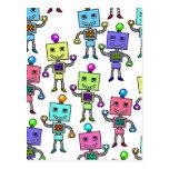 Robots retros viejos de Skool Tarjetas Postales