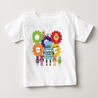 Robots Rule Baby T-Shirt