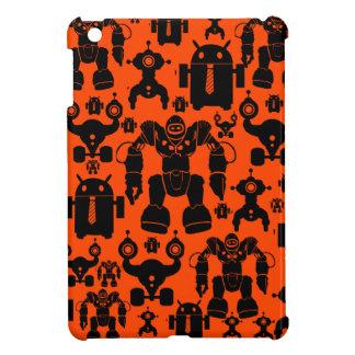 Robots Rule Fun Robot Silhouettes Orange Robotics iPad Mini Case