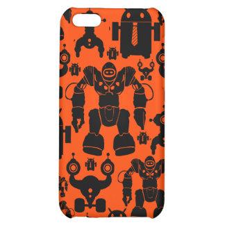 Robots Rule Fun Robot Silhouettes Orange Robotics iPhone 5C Case