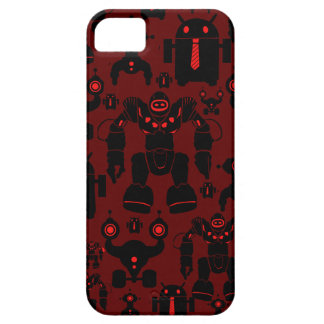 Robots Rule Fun Robot Silhouettes Red Robotics iPhone 5 Covers