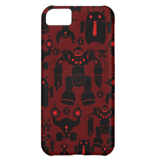 Robots Rule Fun Robot Silhouettes Red Robotics Cover For iPhone 5C
