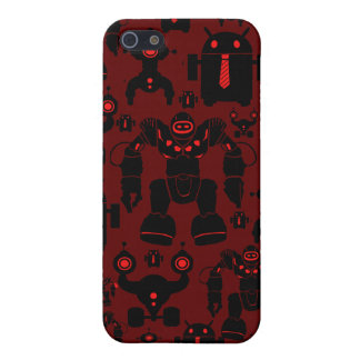 Robots Rule Fun Robot Silhouettes Red Robotics Cover For iPhone 5