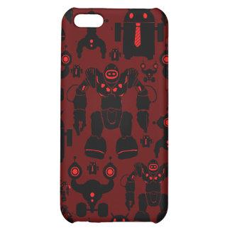 Robots Rule Fun Robot Silhouettes Red Robotics iPhone 5C Cases
