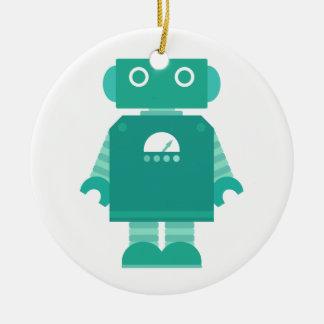 Robots Rule Ornament - Teal