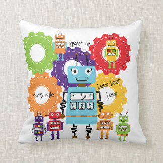 Robots Rule Pillow