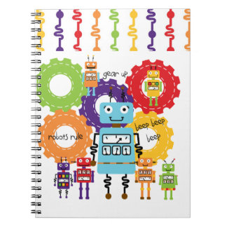 Robots Rule Spiral Notebook