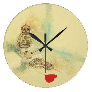 Robots & Sentiments Large Clock