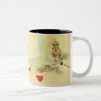 Robots & Sentiments Two-Tone Coffee Mug
