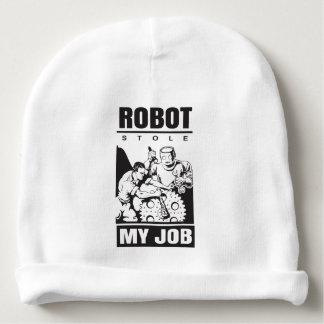 robots stole my job baby beanie