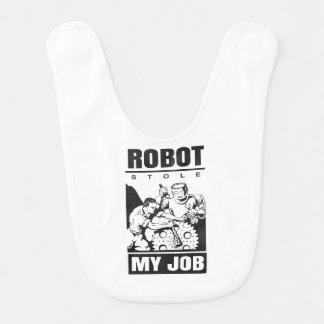 robots stole my job baby bib