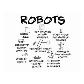 ROBOTS TARJETA POSTAL