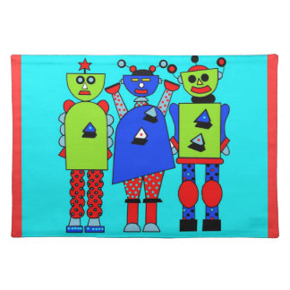 Robots Three Cloth Placemat