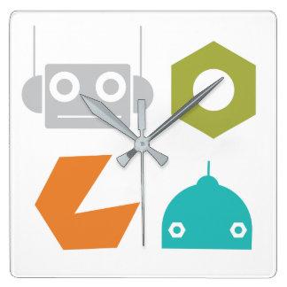 Robots Wall Clock - Robots Nursery Decor - Decorat