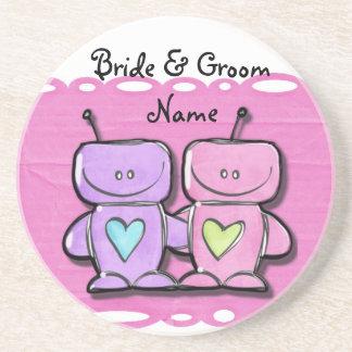 Robots Wedding Party Coasters Wedding Reception