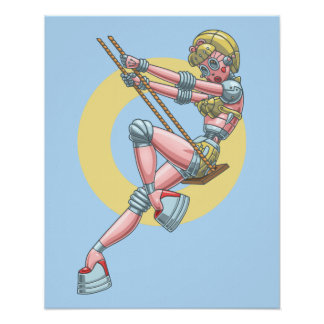 Robotta Clack -Swingin' Poster