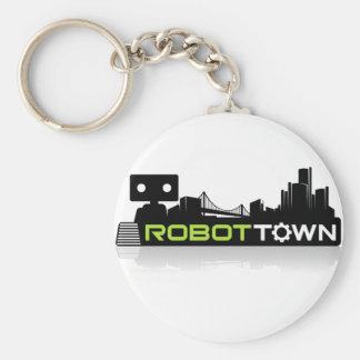 RobotTown Basic Round Button Keychain