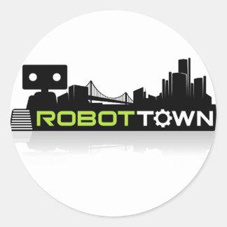 RobotTown Classic Round Sticker
