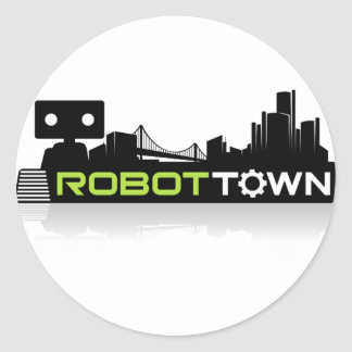 RobotTown Classic Round Sticker