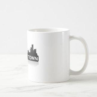 RobotTown Classic White Coffee Mug