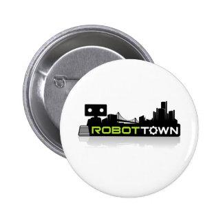 RobotTown Pinback Buttons