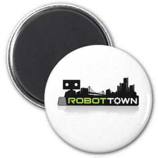 RobotTown Refrigerator Magnet