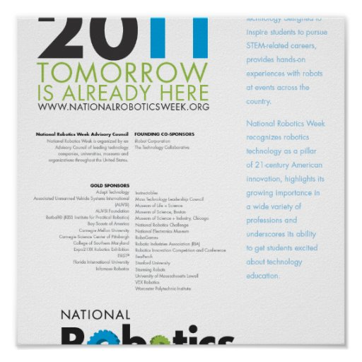 RoboWeek 2011 Poster 8.5x11
