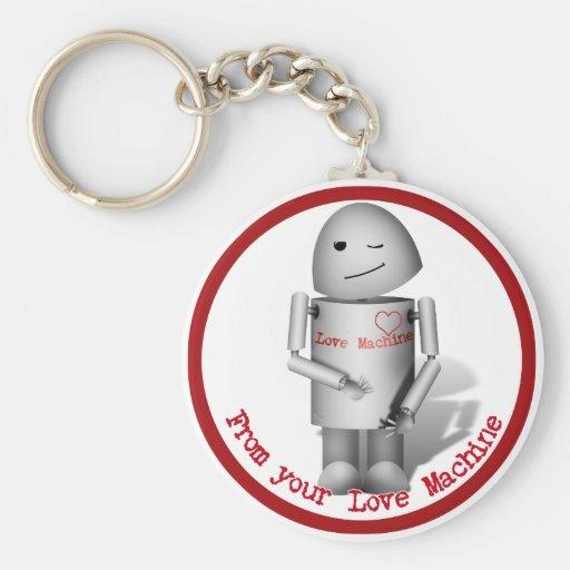 Robox9 - De su máquina del amor Llavero Redondo Tipo Pin
