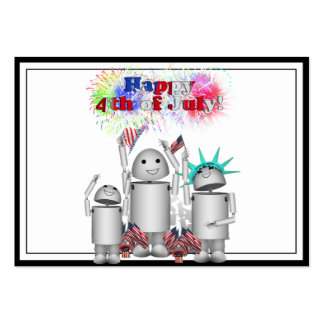 Robox9 & Family Celebrate the 4th of July! Large Business Cards (Pack Of 100)