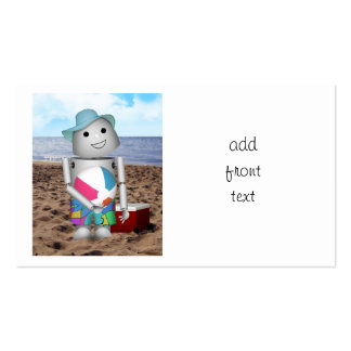 Robox9 has A Day at the Beach Business Card Template