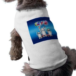 Robox9 y la familia celebran el 4 de julio camisas de perritos