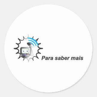 Robozinho for knowledge more classic round sticker
