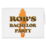 Rob's Bachelor Party Greeting Cards