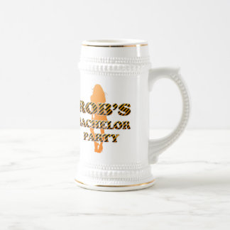 Rob's Bachelor Party 18 Oz Beer Stein