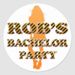 Rob's Bachelor Party Stickers
