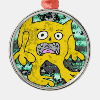 Robs little monster #3 metal ornament