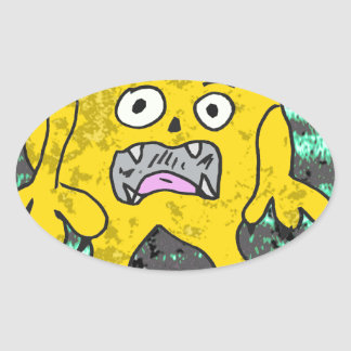 Robs little monster #3 oval sticker